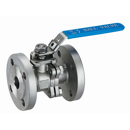 2 piece Stainless steel  flanged ball valve