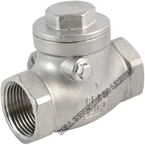stainless steel screwed  swing check valve