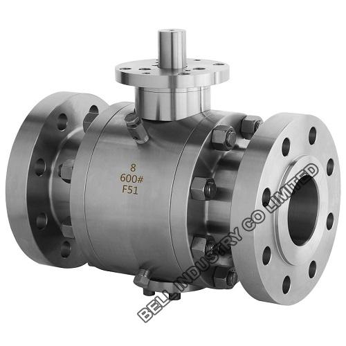 600 lb Trunnion mounted stainless steel Ball valves