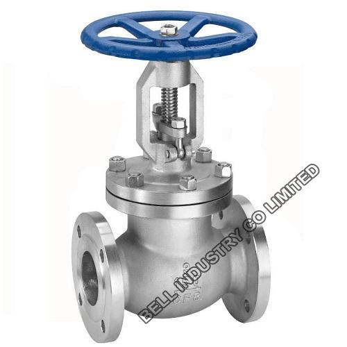 150 lb stainless steel flanged globe valve