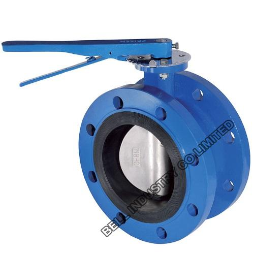 Double Flange Butterfly Valve PN10 PN16-Ductile iron